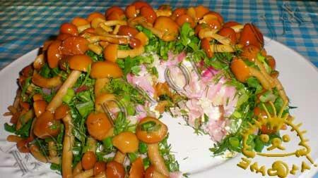 Кулинарные рецепты блюд с фото - Салат Грибная поляна, пошаговое фото 10
