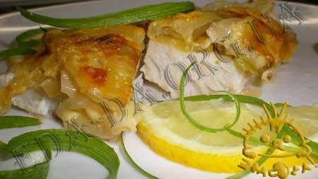 Кулинарные рецепты с фото - Запеченная рыба с фенхелем и луком-пореем. Нажать для увеличения.