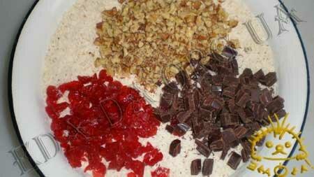 Кулинарные рецепты с фото - Печенье с орехами, шоколадом и сушеными фруктами, Фото 3