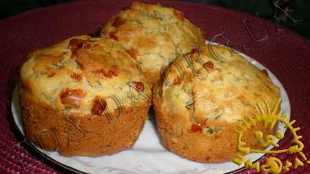 Кулинарные рецепты с фото - Кексы с копченой курицей, сыром и зеленью, Фото 9