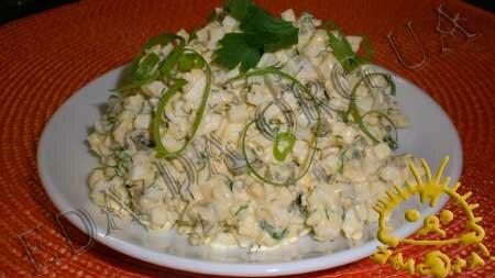 Кулинарные рецепты блюд с фото - Яичный салат. Нажать для увеличения.