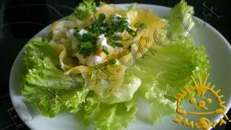Кулинарные рецепты с фото - Сырные корзиночки со слабосоленой семгой, Фото 13