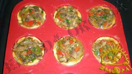Кулинарные рецепты блюд с фото - Корзиночки с грибами и овощами, пошаговое фото 14