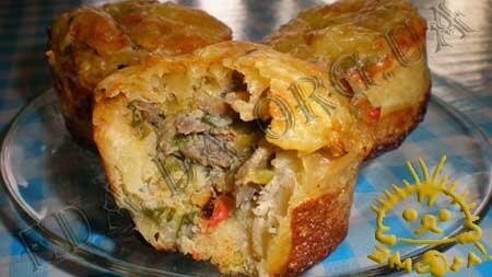 Кулинарные рецепты блюд с фото - Корзиночки с грибами и овощами, пошаговое фото 17
