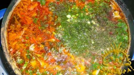 Кулинарные рецепты с фото - Постный борщ с консервированной рыбой и фасолью, Фото 10