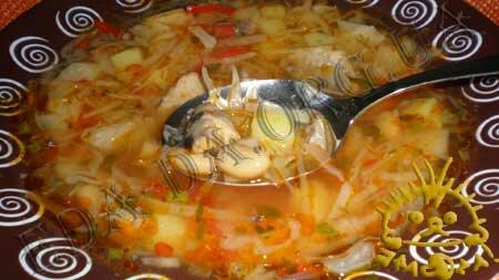 Кулинарные рецепты с фото - Постный борщ с консервированной рыбой и фасолью, Фото 17