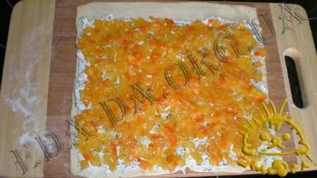 Кулинарные рецепты блюд с фото - Слоеные рулетики с творогом и хурмой, Фото 7