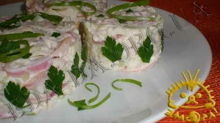 Кулинарные рецепты блюд с фото - Салат с курицей, огурцом и яблоком, Фото 7