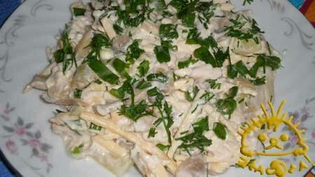 Кулинарный мастер класс - Салат купеческий. Нажать для увеличения.