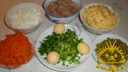 Кулинарный мастер класс - Салат с печенью трески, шаг 1