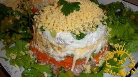 Кулинарный мастер класс - Салат с печенью трески. Нажать для увеличения.